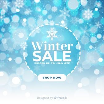 Unscharfes winterschlussverkaufkonzept