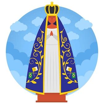 Unsere dame von aparecida mit krone