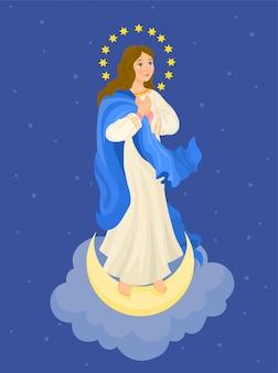 Unserer lieben frau unbefleckte empfängnis. jungfrau maria