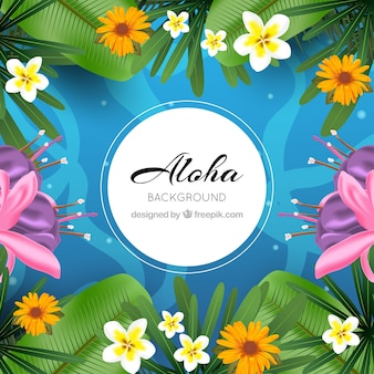 Unter dem meer aloha hintergrund