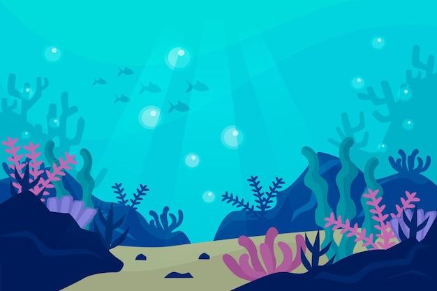 Unter dem meer hintergrunddesign