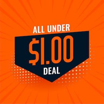 Unter dollar one deal und verkaufsbanner