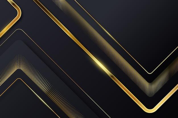 Unterbrochene goldene linien auf dunklem hintergrund