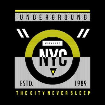 Untergrundtypographie-t-shirt design