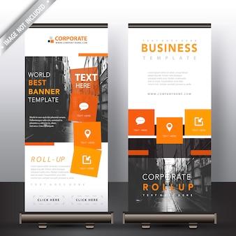 Unternehmen roll-up-banner-set