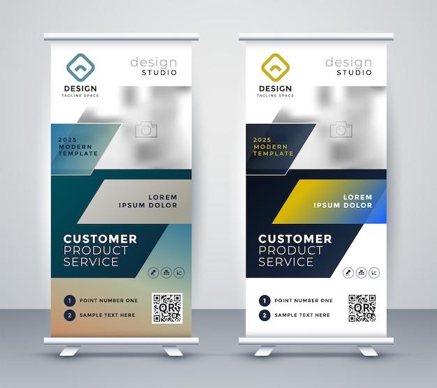 Unternehmen rollup business banner