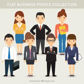 Unternehmen team pack in flaches design