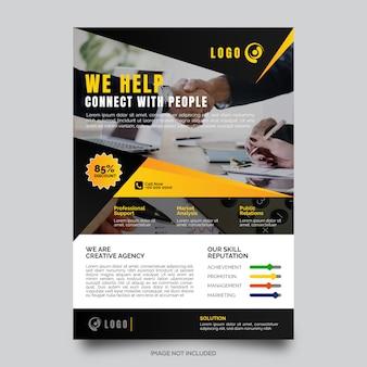 Unternehmens flyer vorlage