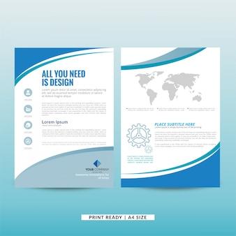 Unternehmens-marketing-broschüre vorlage