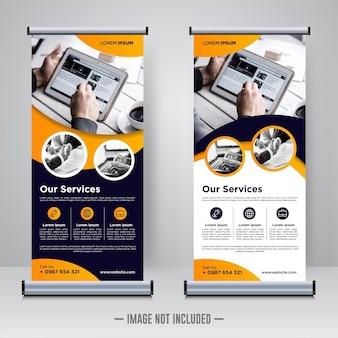Unternehmens-rollup oder banner-design-vorlage