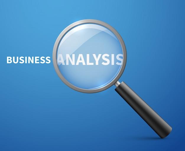 Unternehmensanalyse mit lupe