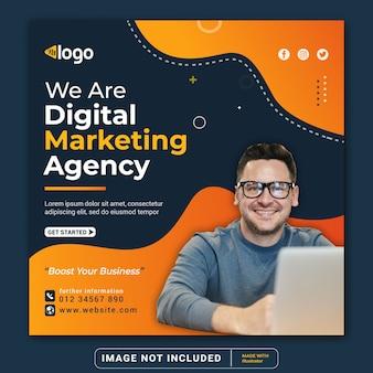 Unternehmensbanner der markenagentur für social-media-instagram-post-banner-vorlage oder quadratischen flyer