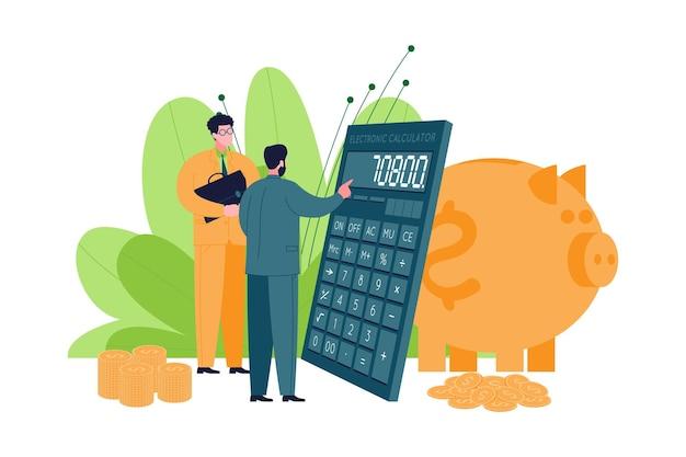 Unternehmensberatungskonzept. ein experte berät und teilt sein wissen mit einem kunden, hilft bei der entwicklung einer strategie, kalkuliert zur zielerreichung und zum erfolg und leistet unterstützung.