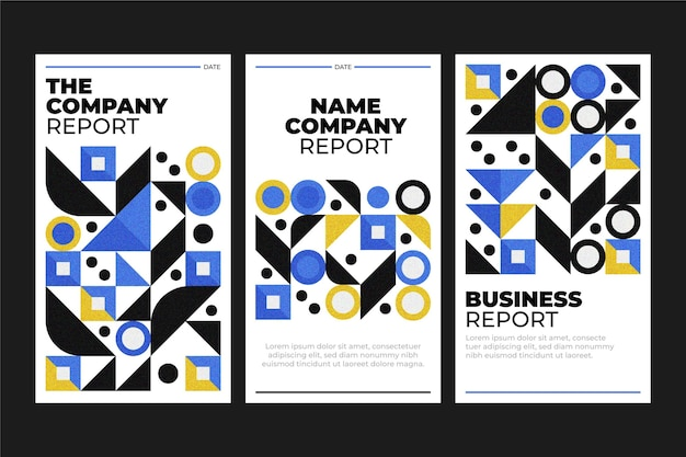Unternehmensbericht geometrische geschäftsabdeckungen