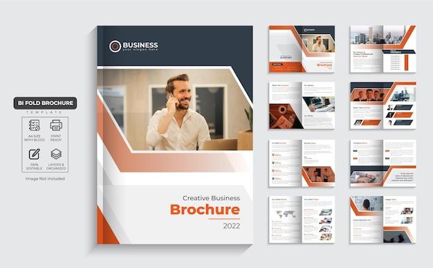 Unternehmensbroschüre 16-seitiges firmenprofil und mehrseitiges business-broschürendesign premium-vektor
