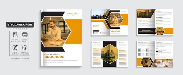Unternehmensbroschüre 8-seitiges firmenprofil und mehrseitiges business-broschürendesign premium-vektor