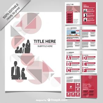 Unternehmensbroschüre mock-up-design