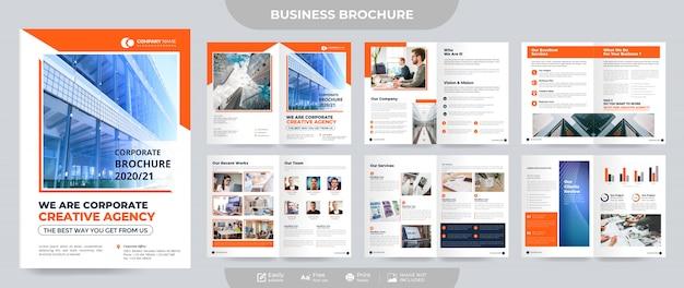 Unternehmensbroschüre und vorlage für unternehmensvorschläge