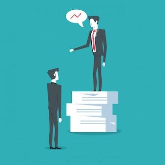 Unternehmensführer und leistungsträger