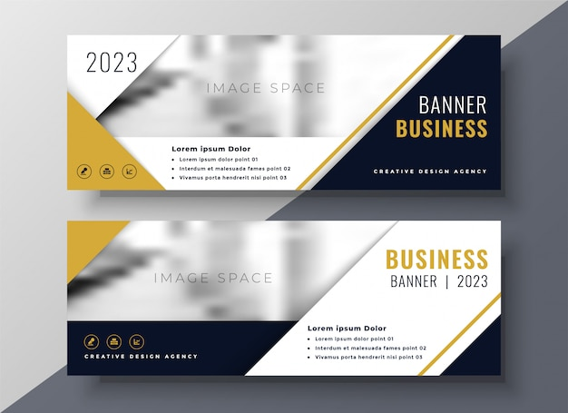 Unternehmensgeschäft banner design-vorlage