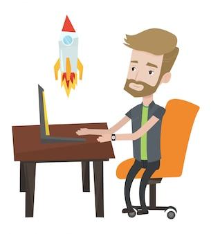 Unternehmensgründung illustration.