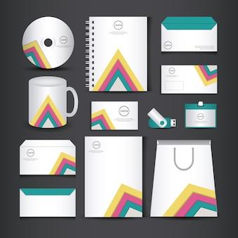 Unternehmensidentitäts-branding-vorlage