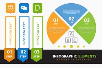 Unternehmensinfografik mit Elementen