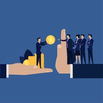 Unternehmenskorruption geben managerabfall geld.