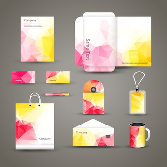 Unternehmensmarke business identity design template layout