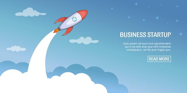 Unternehmensplan-startkonzept, karikaturart