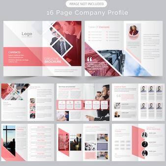 Unternehmensprofil broschüren vorlage
