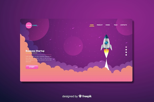 Unternehmensstart-landing-page