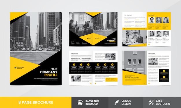 Unternehmensunternehmen broschüren vorlage