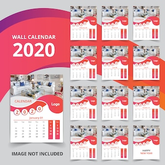 Unternehmenswandkalender 2020