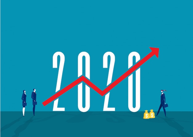 Unternehmenszielstrategie und wachstum des unternehmens investieren im jahr 2020