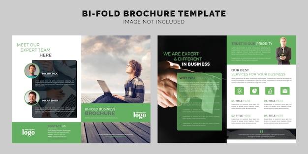 Unternehmenszweifach broschüren vorlage