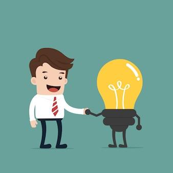 Unternehmer bekommen eine idee