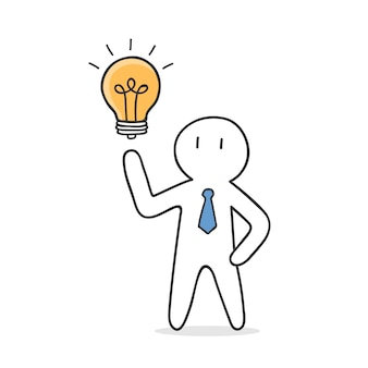 Unternehmer erhalten eine idee