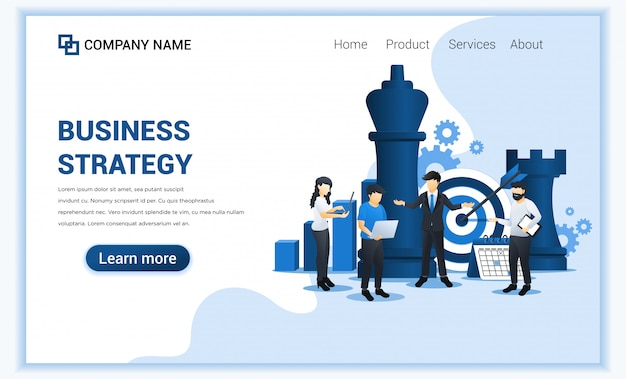 Unternehmer und mitarbeiter planen eine geschäftsstrategie. geschäftsmetapher, führung, zielerreichung. flache darstellung