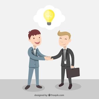 Unternehmer verbindet ideen