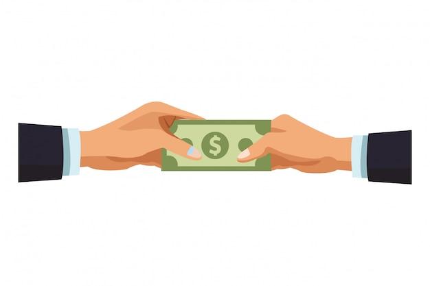 Unternehmerhände mit geld