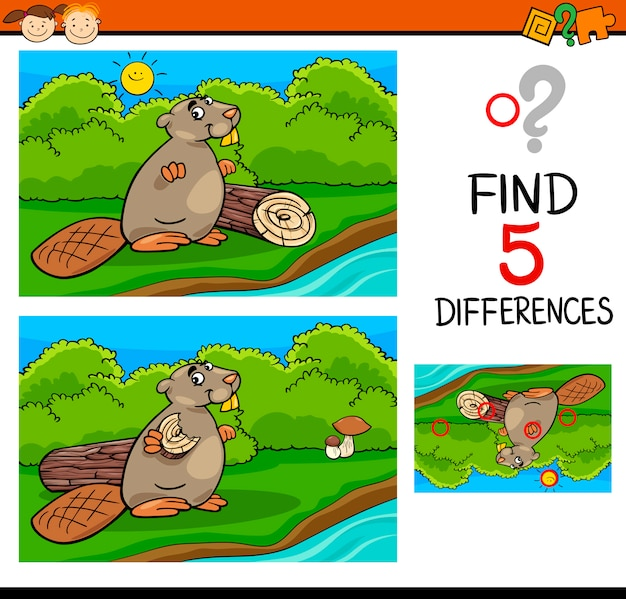 Unterschiede aufgabe für kinder