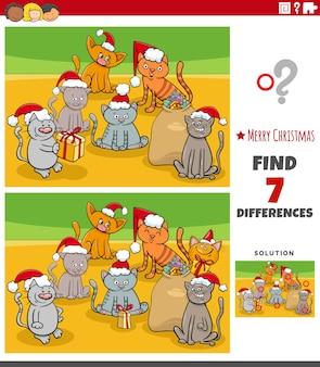 Unterschiede pädagogische aufgabe für kinder mit kätzchen in der weihnachtszeit