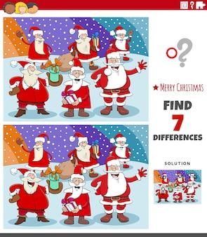 Unterschiede pädagogische aufgabe für kinder mit weihnachtsmann zeichen