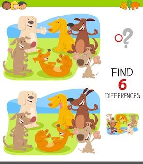Unterschiede spiel für kinder mit happy dogs group