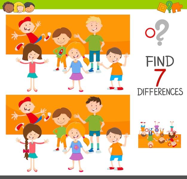 Unterschiede spiel mit kind zeichen