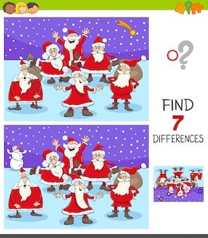 Unterschiede spiel mit santa claus characters