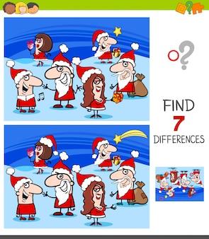 Unterschiede spiel mit weihnachtsfiguren