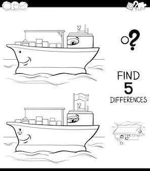 Unterschiede zum containerschiff-farbbuch