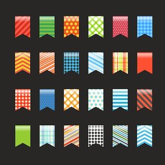 Unterschiedliche farbe kennzeichnet sammlung